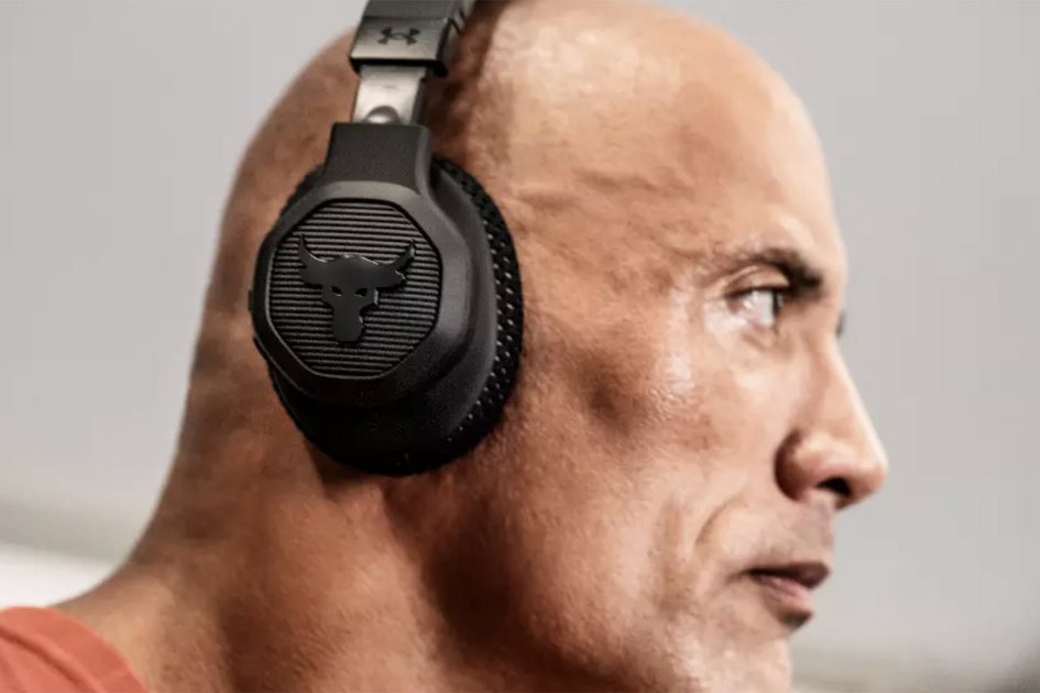 158155 headphones news ua project rock over ear training headphones tuned by the rock himself image1 ahaof0ht96